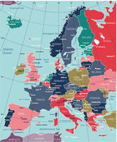 Europe detailed editable map