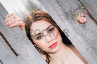 Portrait of cute woman