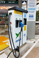 Public electric vehicle charging station