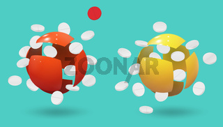 Nanomedicine. Modern technologies. Modern medicine. Vector