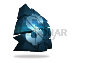 Dollar sign on abstract screen
