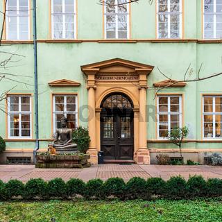 Museum, german Voelkerkundemuseum in City Heidelberg, Baden-Wuerttemberg, Germany. Europe
