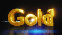 The word gold in gold letters
