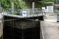 Lock in front of the ship tunnel in Weilburg an der Lahn