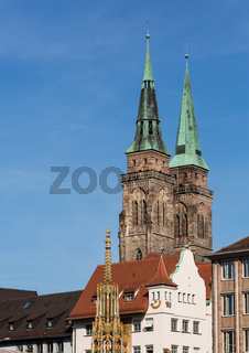 Nuremberg St Sebald Church towers