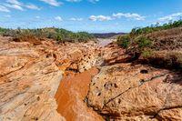 Rapids in the Betsiboka river Madagascar