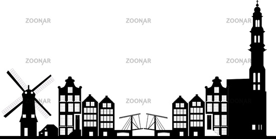 amsterdam dutch city skyline