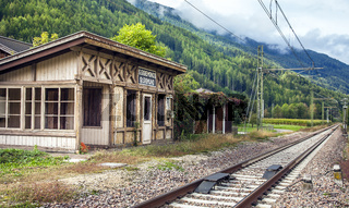 St.Sigmund train station in Trentino South Tyrol Italy