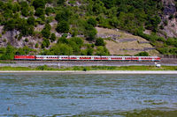 Train in the Middle Rhine Valley