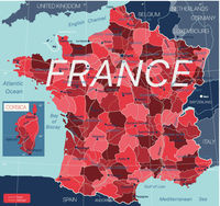 France country detailed editable map