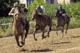 Horse racing in Nalchik.