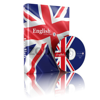 English book  in national flag cover and CD.