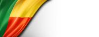 Benin flag isolated on white banner