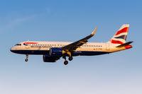 British Airways Airbus A320neo Flugzeug Flughafen Athen in Griechenland