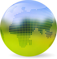 Globe blurred landscape