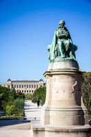 Lamarck statue in the Jardin des plantes Park, Paris, France
