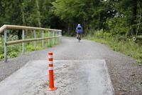 symbolically bike, hiking and pedestrian path