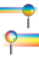 Rainbow under the microscope (2pcs.)