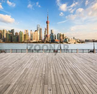 modern cityscape in shanghai
