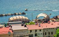 Coast of Odessa in the  Big Fountain resort, Ukraine