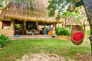 Beach swing egg chair at Seychelles