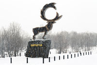 Sculpture of wild Kamchatka Reindeer