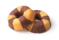 Chocolate banana sponge cakes