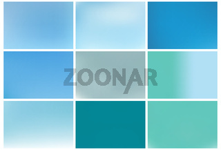Gradient Blue abstract backgrounds set.