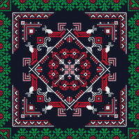 Romanian traditional pattern 217