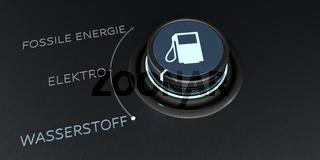 Control Knob Elektro Wasserstoff