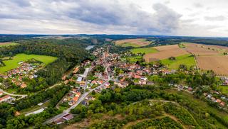 Blick über Güntersberge im Harz