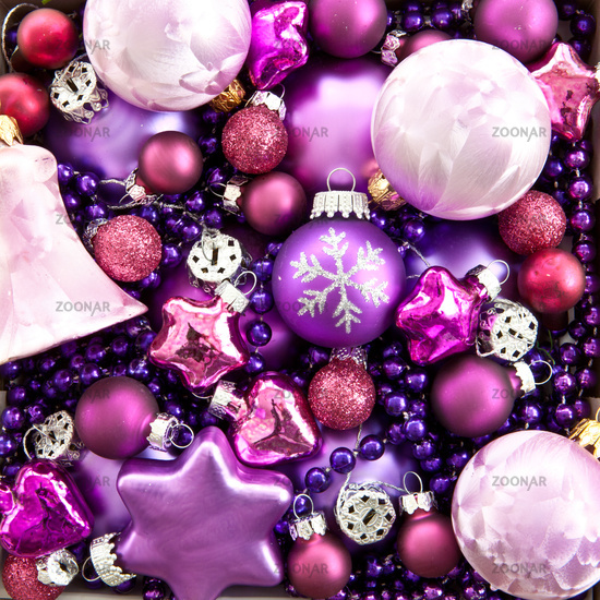 Background from colorful christmas tree balls