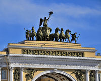 Arch of General Staff on Palace Square in Saint Petersburg, Russia