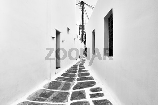 Street in Mykonos island in Greece