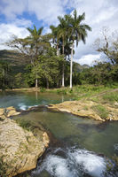 river with stages in park of Soroa. Cuba.