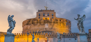 The famous Angels Castle in Rome - Castel Sant Angelo