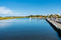 The tranquil port of Prerow, Fischland-Darß, Mecklenburg-Vorpommern, Germany