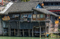 Old historic wooden house in Fenghuang