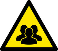 Vector Flat People Group Warning Icon