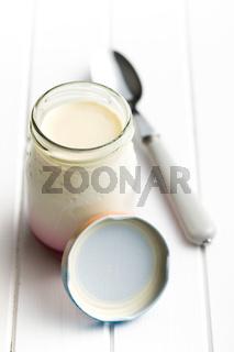 yogurt in jar