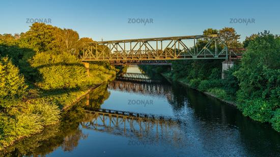 Canal bridge in Duisburg, North Rhine-Westfalia, Germany