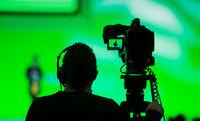 TV Camera on a live film set