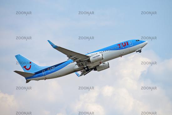 TUIfly aircraft at take-off