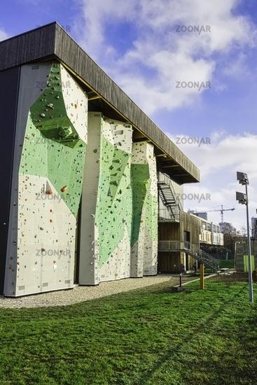 Climbing wall at DAV Centre, Berlin, Germany