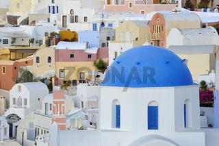 Stadtansicht von Oia, Santorin