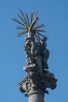 Close up of Bratislava Religious statue