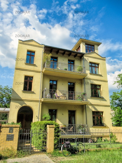 Berlin, Germany - May 21, 2019 - renovated old house