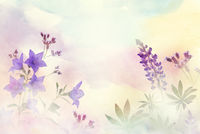 Spring floral composition made with  colorful flowers on light pastel background.