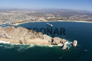 Blick auf Lands End und Cabo San Lucas, Mexiko
