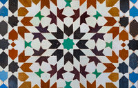 Background of vintage moroccan ceramic tiles